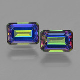 thumb image of 1.4ct Octagon Step Cut Multicolor Mystic Topaz (ID: 457345)