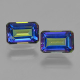 thumb image of 1.5ct Octagon Step Cut Multicolor Mystic Topaz (ID: 457346)