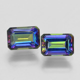 thumb image of 1.4ct Octagon Step Cut Multicolor Mystic Topaz (ID: 457357)