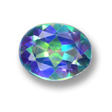 thumb image of 2.9ct Oval Facet Multicolor Mystic Topaz (ID: 462310)