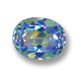 thumb image of 3.4ct Oval Facet Multicolor Mystic Topaz (ID: 462317)