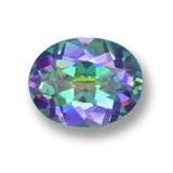 thumb image of 3ct Oval Facet Multicolor Mystic Topaz (ID: 462319)