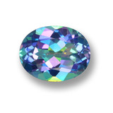 thumb image of 2.7ct Oval Facet Multicolor Mystic Topaz (ID: 462320)