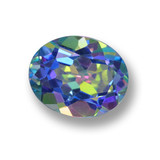 thumb image of 3.3ct Oval Facet Multicolor Mystic Topaz (ID: 462394)