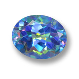 thumb image of 3.6ct Oval Facet Multicolor Mystic Topaz (ID: 462396)