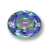 thumb image of 3.6ct Oval Facet Multicolor Mystic Topaz (ID: 462402)