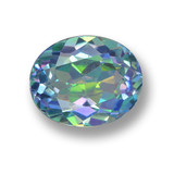 thumb image of 3.1ct Oval Facet Multicolor Mystic Topaz (ID: 462442)