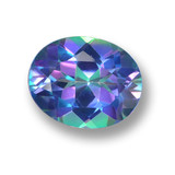 thumb image of 3.2ct Oval Facet Multicolor Mystic Topaz (ID: 462446)