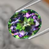 thumb image of 4.5ct Oval Facet Multicolor Mystic Topaz (ID: 467068)