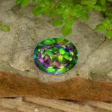 thumb image of 4.6ct Oval Facet Multicolor Mystic Topaz (ID: 467074)