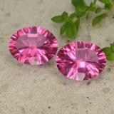 thumb image of 4.1ct Oval Concave Cut Purplish Pink Mystic Topaz (ID: 482878)
