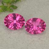 thumb image of 4.1ct Oval Concave Cut Purplish Pink Mystic Topaz (ID: 482997)