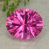 thumb image of 5.7ct Oval Concave Cut Purplish Pink Mystic Topaz (ID: 483072)