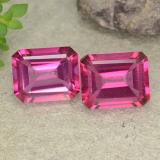 thumb image of 3.7ct Octagon Step Cut Dark Pink Mystic Topaz (ID: 489638)