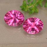 thumb image of 3.1ct Oval Concave Cut Purplish Pink Mystic Topaz (ID: 490092)