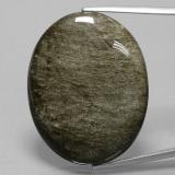 thumb image of 41ct Oval Cabochon Gold Sheen Black Obsidian (ID: 391260)