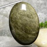 thumb image of 40.8ct Oval Cabochon Gold Sheen Obsidian (ID: 391422)
