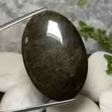 thumb image of 31.6ct Oval Cabochon Gold Sheen Obsidian (ID: 391491)