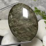 thumb image of 47.7ct Oval Cabochon Gold Sheen Obsidian (ID: 391492)
