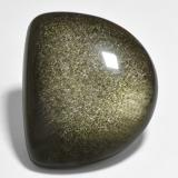 thumb image of 27.5ct Half Moon Cabochon Gold Sheen Obsidian (ID: 433779)