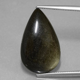 thumb image of 14ct Pear Cabochon Gold Sheen Obsidian (ID: 433839)