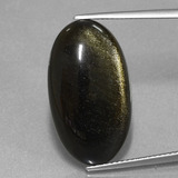 thumb image of 15.2ct Oval Cabochon Gold Sheen Obsidian (ID: 433842)