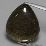 thumb image of 17.8ct Pear Cabochon Gold Sheen Obsidian (ID: 433927)