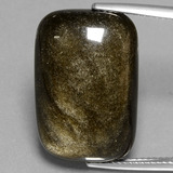 thumb image of 17.1ct Cushion Cabochon Gold Sheen Obsidian (ID: 433931)