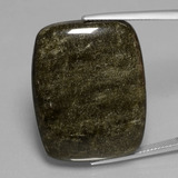thumb image of 47.7ct Cushion Cabochon Gold Sheen Obsidian (ID: 433965)