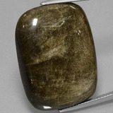 thumb image of 31.7ct Cushion Cabochon Gold Sheen Obsidian (ID: 434038)