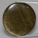 thumb image of 28.2ct Round Cabochon Gold Sheen Obsidian (ID: 434044)