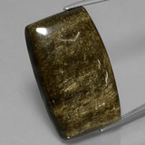 thumb image of 35ct Cushion Cabochon Gold Sheen Obsidian (ID: 434045)