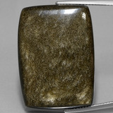 thumb image of 42.3ct Cushion Cabochon Gold Sheen Obsidian (ID: 434851)