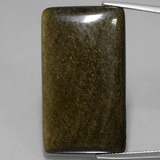 thumb image of 33.8ct Baguette Cabochon Gold Sheen Obsidian (ID: 434856)