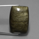 thumb image of 33.1ct Barrel Cabochon Gold Sheen Obsidian (ID: 434995)