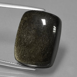 thumb image of 22.6ct Cushion Cabochon Gold Sheen Obsidian (ID: 435087)