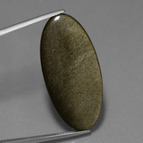 thumb image of 15.1ct Oval Cabochon Gold Sheen Obsidian (ID: 447755)