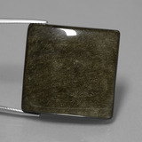 thumb image of 54.4ct Square Cabochon Gold Sheen Obsidian (ID: 447758)
