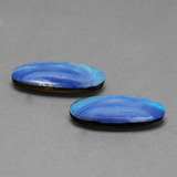 2.75 ct Oval Cabochon Blue Opal Doublet Gem 17.53 mm x 7.6 mm (Photo B)
