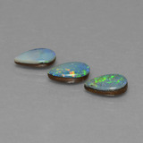 thumb image of 2ct Pear Cabochon Multicolor Opal Doublet (ID: 446803)