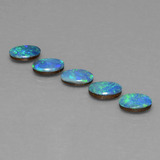 thumb image of 2.7ct Oval Cabochon Multicolor Opal Doublet (ID: 446808)
