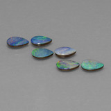 thumb image of 2.4ct Pear Cabochon Multicolor Opal Doublet (ID: 446812)