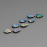 thumb image of 3.3ct Pear Cabochon Multicolor Opal Doublet (ID: 446822)