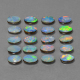0.36 ct Ovale cabochon Multicolore Opale doppietta Gem 6.14 mm x 4.2 mm (Photo B)
