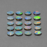 0.36 ct Ovale cabochon Multicolore Opale doppietta Gem 6.14 mm x 4.2 mm (Photo C)