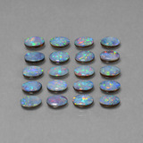 thumb image of 7.9ct Oval Cabochon Multicolor Opal Doublet (ID: 446913)