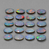 0.37 ct Ovale cabochon Multicolore Opale doppietta Gem 6.14 mm x 4.1 mm (Photo B)