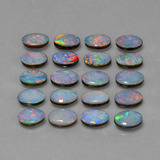 0.37 ct Ovale cabochon Multicolore Opale doppietta Gem 6.14 mm x 4.1 mm (Photo C)