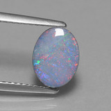 thumb image of 1.1ct Oval Cabochon Multicolor Opal Doublet (ID: 449205)