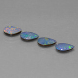 thumb image of 2.2ct Pear Cabochon Multicolor Opal Doublet (ID: 449255)
